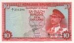 10 Brunėjaus ringitų.