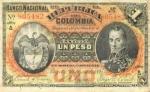 1 Kolumbijos pesas.