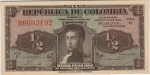 0,5 Kolumbijos peso.