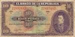 10 Kolumbijos pesų.