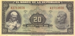 20 Kolumbijos pesų.