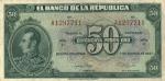 50 Kolumbijos pesų.