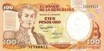 100 Kolumbijos pesų.
