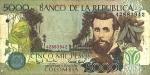 5000 Kolumbijos pesų.
