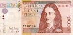 10000 Kolumbijos pesų.