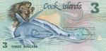 3 Kuko salų doleriai.