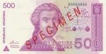 500 Kroatijos dinarų.