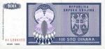 100 Kroatijos dinarų.