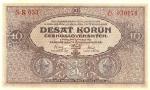 10 Čekoslovakijos kronų.