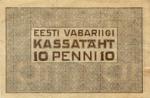 10 Estijos penių.