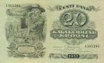 20 Estijos kronų.