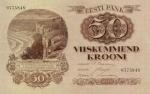 50 Estijos kronų.