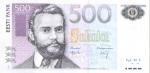 500 Estijos kronų.