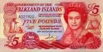 5 Falklando salų svarai.