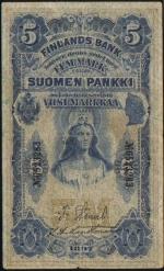 5 Suomijos markės.