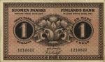 1 Suomijos markė.