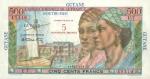 500 Prancūzijos Gvianos frankų.
