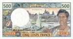 500 Prancūzijos Polinezijos ir Okeanijos frankų.