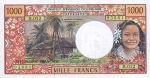 1000 Prancūzijos Polinezijos ir Okeanijos frankų.