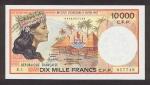 10000 Prancūzijos Polinezijos ir Okeanijos frankų.