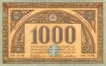 1000 Gruzijos rublių.