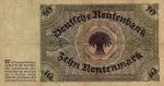 10 Vokietijos rentenmarkių.