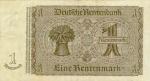 1 Vokietijos rentennmarkė.