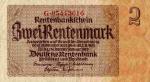 2 Vokietijos rentennmarkės.