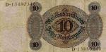 10 Vokietijos reichsmarkių.
