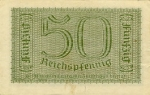 50 Vokietijos reichspfeningų.