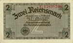 2 Vokietijos reichsmarkės.