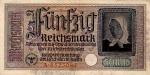 50 Vokietijos reichsmarkių.