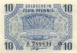 10 Vokietijos pfeningų.