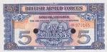 5 Didžiosios Britanijos šilingai.