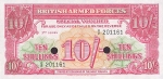 10 Didžiosios Britanijos šilingų.