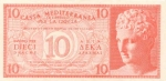10 Graikijos drachmų.