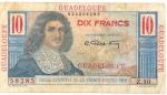 10 Gvadelupės frankų.