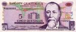 5 Gvatemalos kvedzalai.