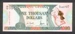1000 Gvianos dolerių.