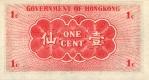 1 Honkongo dolerio centas.
