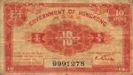 10 Honkongo dolerio centų.