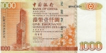 1000 Honkongo dolerių.