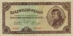 100000000 Vengrijos pengų.