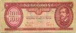 100 Vengrijos forintų.