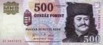 500 Vengrijos forintų.
