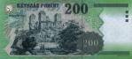 200 Vengrijos forintų.