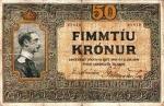 50 Islandijos kronų.