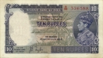 10 Indijos rupijų.