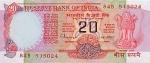 20 Indijos rupijų.