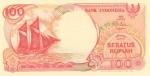 100 Indonezijos rupijų.